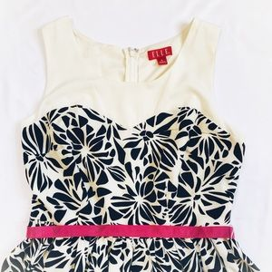 Elle Dresses - Elle Black & White Floral Dress Sz 8